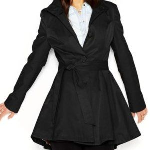 Betsey Johnson | Black Skirted A-Line Trench Coat